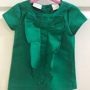 Green Holiday Dress 6-9M